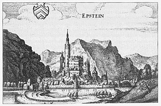 Lords of Eppstein - The castle of the Eppsteins by Matthäus Merian in 1646