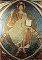 Burgusio, cripta della chiesa di Montemaria, cristo in maestra, 1160 circa.jpg