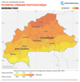 Burkina-Faso PVOUT Photovoltaic-power-potential-map lang-FR GlobalSolarAtlas World-Bank-Esmap-Solargis.png