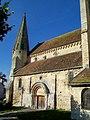 Bury (60), église Saint-Lucien, nef et bas-côté sud-est romans.jpg