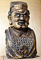 Bust of a Buddhist guardian figure, from China, Yuan Dynasty, 14th century CE. The British Museum.jpg