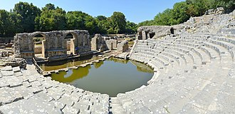 Albania - The remains of the Roman amphitheatre in Butrint.