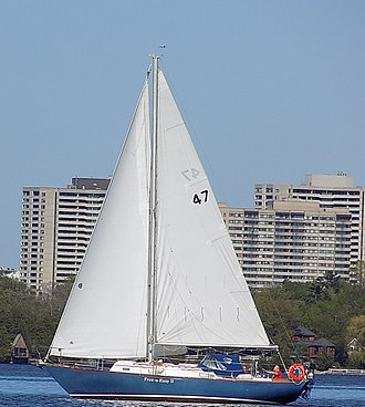 Corvette 31 - Image: C&C Corvette 31 sailboat Free N Easy II cropped 0491