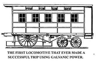 Charles Grafton Page - Charles Grafton Page's electromagnetic locomotive.