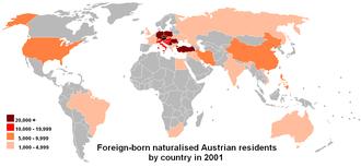 Demographics of Austria - Image: COB data Austria