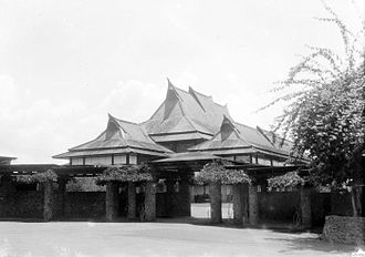 Bandung Institute of Technology - The East Hall of Tecnische Hogeschool in Bandung in 1929