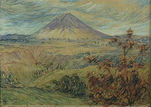 Max Fleischer (painter) - Volcano on Java