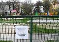 COVID19 in Poland Poznan (playground Wojska Polskiego).jpg