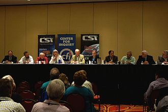"Skeptical Inquirer - The Executive Council of the Committee for Skeptical Inquiry (CSI) answering members questions during the Center for Inquiry (CFI) ""Reason for Change"" conference, Amherst, New York, June 2015"