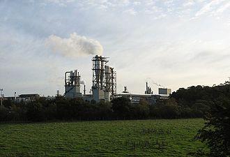 "Cowie, Stirling - The ""Caberboard"" fibreboard factory in Cowie"
