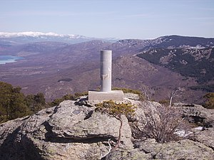 Triangulation station - A trigonometrical station in the Sierra de Guadarrama, Spain