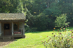 Spring Mill State Park - Image: Cabin Spring Mill