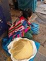 Calca Peru- Quinoa seller at mercado II.jpg