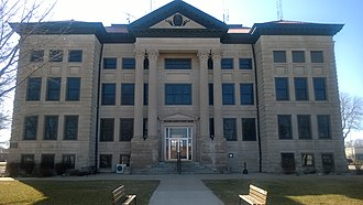 National Register of Historic Places listings in Calhoun County, Iowa - Image: Calhoun County IA Courthouse