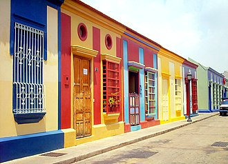 Maracaibo - Carabobo street contains much of the city's famous colonial architecture