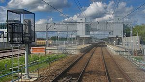 Cambridge North railway station - The station just before opening