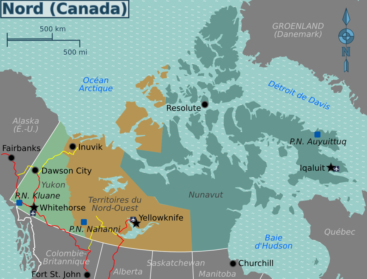 Map North Canada File:Canada north map (fr).png   Wikimedia Commons