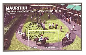 Cancelled-to-order - Cancelled-to-order Mauritius Miniature Sheet of the 'Bicentenary of the Mauritius Turf Club (1812-2012)' issue