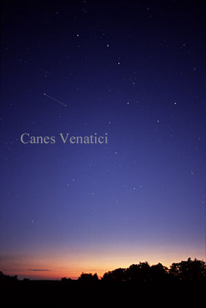Canes Venatici - The constellation Canes Venatici as it can be seen by the naked eye.