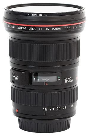 Canon EF 16–35mm lens - Image: Canon EF 16 35mm f 2.8L USM II
