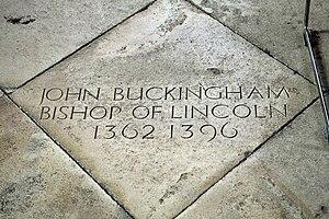 John Bokyngham - Flagstone in Canterbury Cathedral memorializing Bokyngham