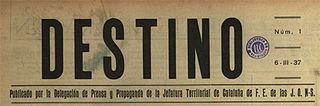 <i>Destino</i> (magazine) Defunct Spanish magazine