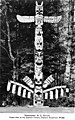 Capilano Indian totem pole at the Capilano Canyon Suspension Bridge, Vancouver, British Columbia, between 1920 and 1930 (AL+CA 2199).jpg
