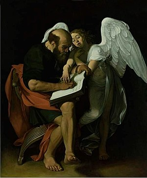 Saint Matthew and the Angel - Image: Caravaggio Matthew And The Angel by Mikey Angels