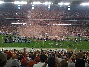 2008 Arizona Cardinals season - Celebration after Cards win NFC championship game, January 18, 2009.