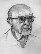Line drawing of Carl Rogers's head