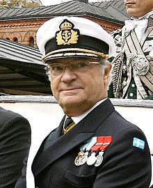 Carlo XVI Gustavo in uniforme da ammiraglio, l'11 settembre 2007