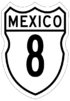 Federal Highway 8 shield