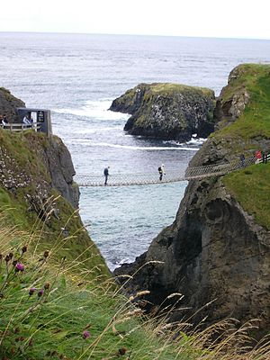 Carrick-a-Rede Rope Bridge - Image: Carrick a rede rope