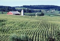 Agriculture is an important part of the state's economy.