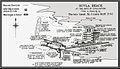 Carte baie de la plage de Suvla au moment du rembarquement allié en 1916.jpg
