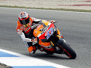 2011 Grand Prix motorcycle racing season - Image: Casey Stoner 2011 Estoril 1