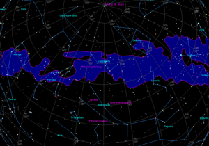 Alpha Cassiopeiae -  Cassiopeia in the context of the Milky Way.