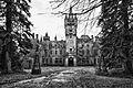 Castle Miranda, front entrance (BW).jpg