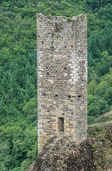 Southern tower of the castle of Peyrusse-le-Roc, Aveyron, France