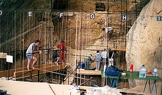 Arago cave - Excavation session