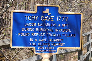 John Boyd Thacher State Park - Tory Cave sign