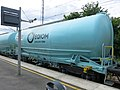 Cement transport wagon of the company EQIOM in Vaires-Torcy (France).jpg