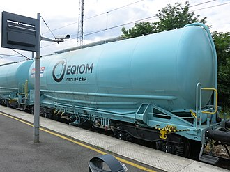 CRH plc - Cement transport wagon of the French subsidiary (EQIOM)