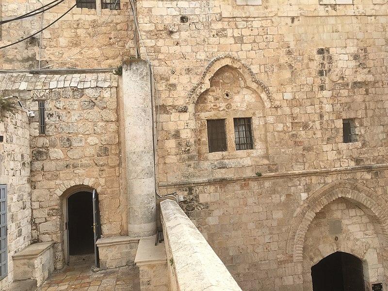 File:Cenacle and David's Tomb entrances.jpg