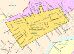Borough of Princeton, New Jersey - Image: Census Bureau map of Borough of Princeton, New Jersey