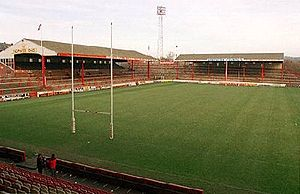 Central Park (Wigan) - Image: Central park kop