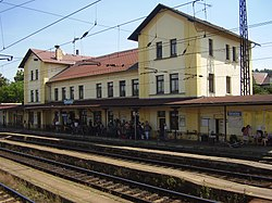 Train station in Čerčany