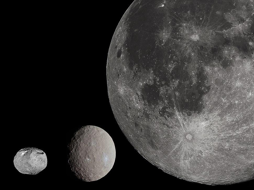 Ceres and Vesta, Moon size comparison