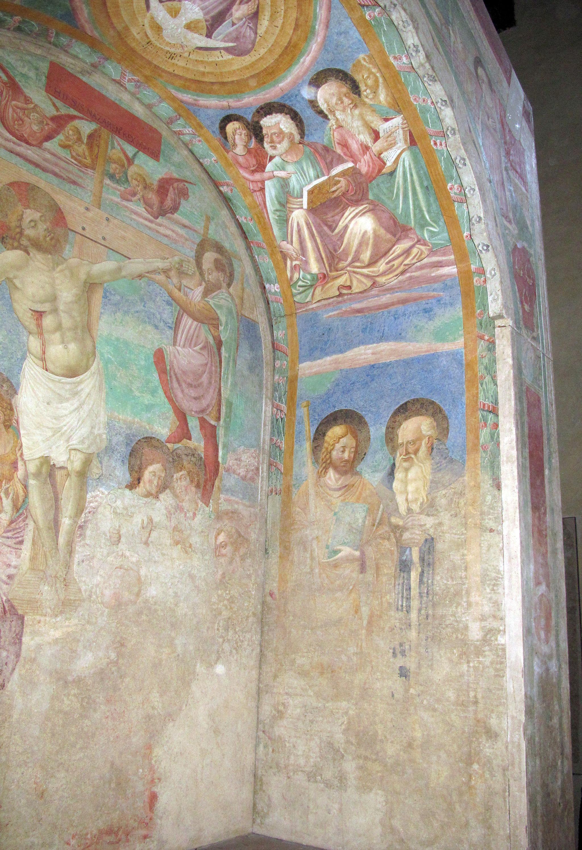 Certaldo alta, santi tommaso e prospero, tabernacolo dei giustiziati 12