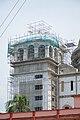 Chandrodaya Mandir Eastern Chatri Under Construction - Temple Of Vedic Planetarium - ISKCON Campus - Mayapur - Nadia 2017-08-15 2093.JPG